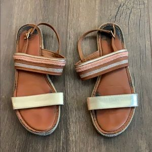 rose and gold sandal